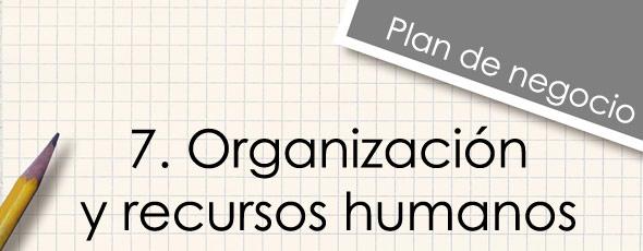 Organización y recursos humanos en una tienda en Internet